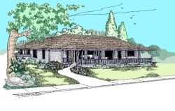 Traditional Style Home Design Plan: 33-435