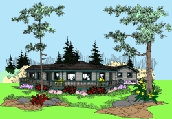 Contemporary Style Floor Plans 33-458
