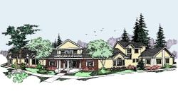 Northwest Style Home Design Plan: 33-469