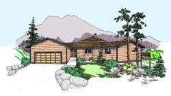 Northwest Style House Plans Plan: 33-476