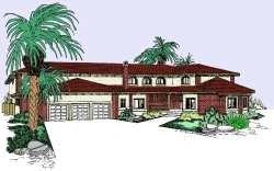 Southwest Style House Plans Plan: 33-482