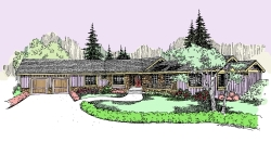 Ranch Style House Plans Plan: 33-490