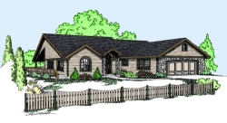 Traditional Style Home Design Plan: 33-529