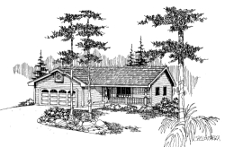 Traditional Style Home Design Plan: 33-530