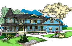 Victorian Style Home Design Plan: 33-570