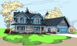 Victorian Style House Plans Plan: 33-591