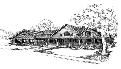 Traditional Style Home Design Plan: 33-621