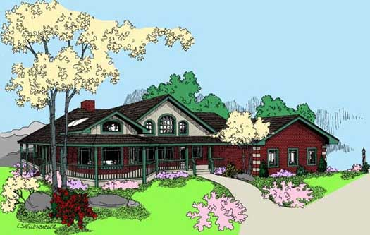 Traditional Style Home Design Plan: 33-626
