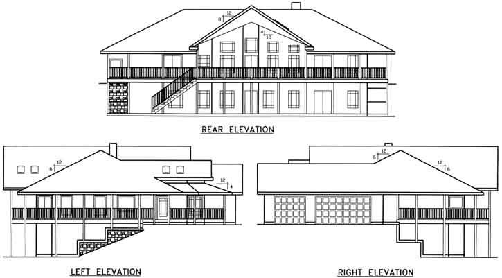Rear Elevation Plan: 33-626