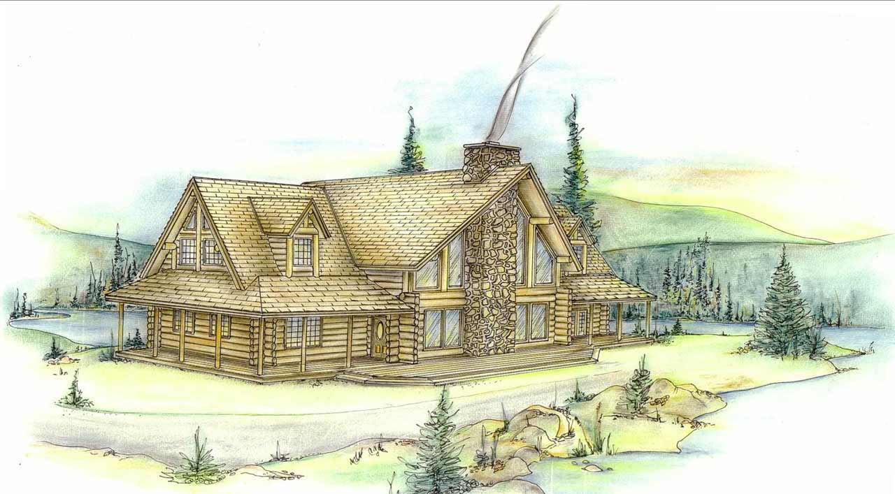 Log-cabin Style House Plans Plan: 34-101