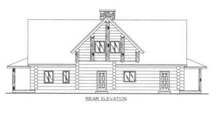 Rear Elevation Plan: 34-101