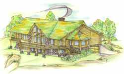 Log-Cabin Style House Plans Plan: 34-105