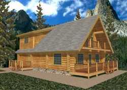 Log-Cabin Style House Plans Plan: 34-106