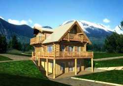 Log-Cabin Style Floor Plans Plan: 34-107
