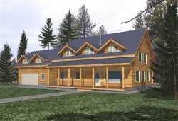 Log-Cabin Style House Plans Plan: 34-108