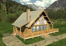 Log-Cabin Style Floor Plans Plan: 34-110