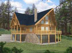 Log-Cabin Style House Plans Plan: 34-114
