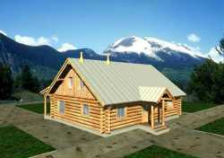 Log-Cabin Style House Plans Plan: 34-117