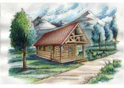 Log-Cabin Style House Plans Plan: 34-120