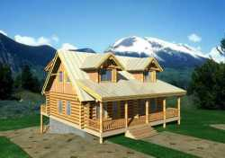 Log-Cabin Style Floor Plans Plan: 34-125