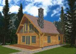 Log-Cabin Style House Plans Plan: 34-127