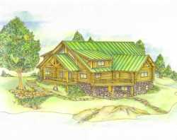 Log-Cabin Style Floor Plans Plan: 34-128