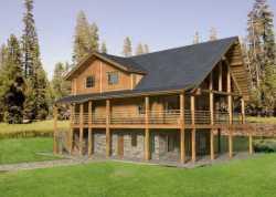 Log-Cabin Style House Plans Plan: 34-131