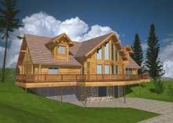 Log-Cabin Style Floor Plans Plan: 34-132
