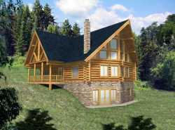 Log-Cabin Style House Plans Plan: 34-133