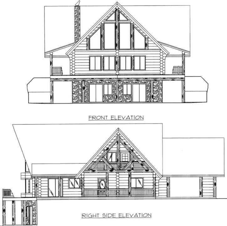 Rear Elevation Plan: 34-137