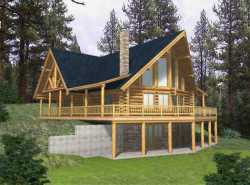 Log-Cabin Style Floor Plans Plan: 34-137