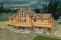 Log-Cabin Style Floor Plans Plan: 34-138