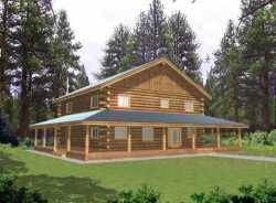 Log-Cabin Style House Plans Plan: 34-141