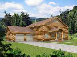 Log-Cabin Style Floor Plans Plan: 34-142