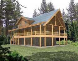 Log-Cabin Style House Plans Plan: 34-143