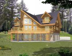 Log-Cabin Style House Plans 34-145