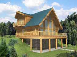 Log-Cabin Style House Plans Plan: 34-146