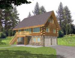 Log-Cabin Style House Plans Plan: 34-148