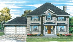 European Style Home Design Plan: 35-120