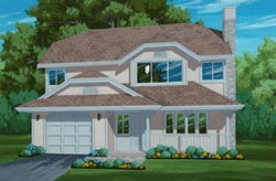 Traditional Style Home Design Plan: 35-122
