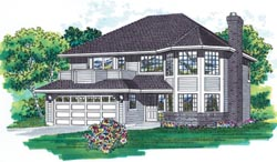 Northwest Style Home Design Plan: 35-131