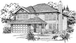 Northwest Style Home Design Plan: 35-133