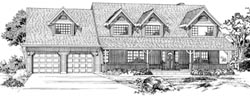 Country Style Home Design Plan: 35-156