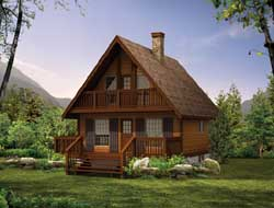 Cottage Style Home Design Plan: 35-198