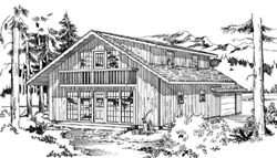 Cottage Style Home Design Plan: 35-200