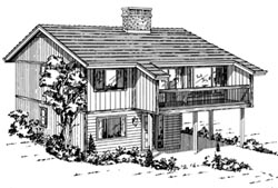 Contemporary Style House Plans Plan: 35-208