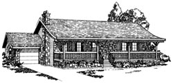 Ranch Style Home Design Plan: 35-212