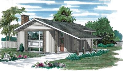 Contemporary Style Home Design Plan: 35-215