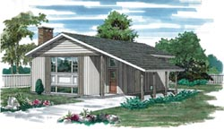 Contemporary Style Floor Plans Plan: 35-215