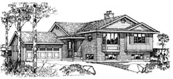 Traditional Style Home Design Plan: 35-218